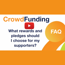 What rewards and pledges should I choose for my supporters?