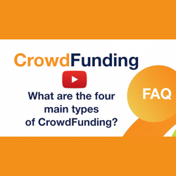 What are the four main types of crowdfunding?